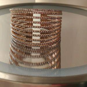 (NEW) Gold and Rhinestone Bracelet